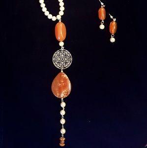 Marina Soutyrine Art Jewelry - 🆕️🎉SET: NECKLACE AND EARRINGS